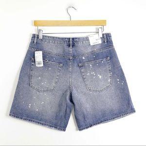 Forever 21 Shorts - NWT Blue boyfriend shorts bermuda splatter denim